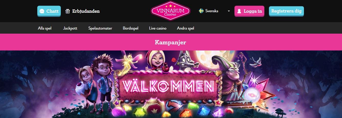 vinnarum casino på nätet