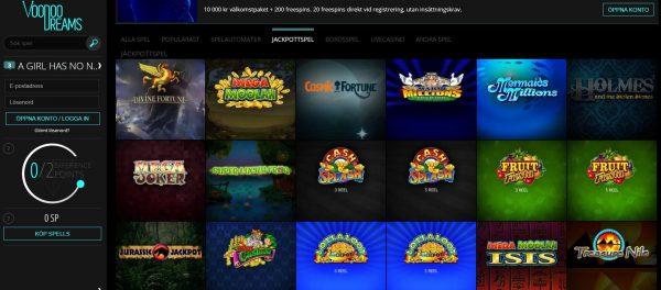 voodoo dreams online slots