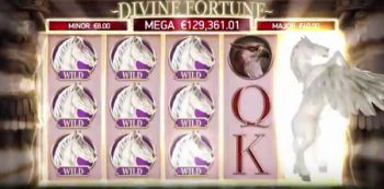 divine fortune slot win